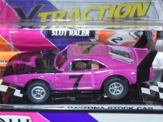 PURPLE 69 DODGE DAYTONA STOCK CAR XTRACTION AW AUTO WORLD HO SLOT CAR