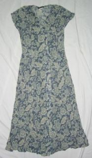 Womens Dianne B New York Blue Cream Dress Sz Small