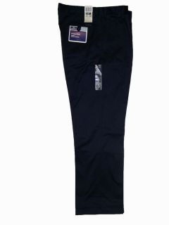 Dockers Polished Khaki Pants Pleated Straight Fit Navy