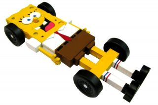 Squarepants Pinewood Derby Car Kit   w/Tungsten   Derby Monkey   4029
