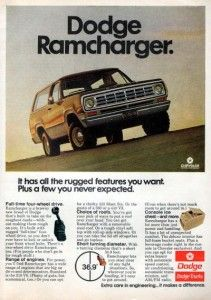 1975 dodge ramcharger truck original color ad