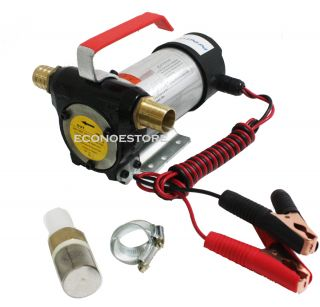 12v Diesel Fuel Oil Transfer Pump 11 GPM Direct Current 16Ft M