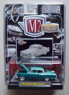 1955 DODGE ROYAL LANCER TURQUOISE M2 Machines AUTO THENTICS Diecast 1