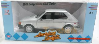 Cast Car 124 scale American Grafitti 1985 Dodge Omni GLH Turbo 32081