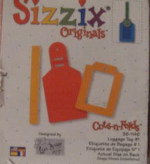 Sizzix Red Die ~ Cuts N Folds ~ Luggage Tag #1 38 1147