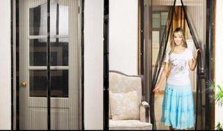 Screen Door Curtain Magnet Closure Pet Dog Door 2140x900cm New