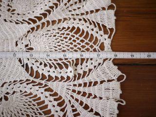 Vintage Antique HANDMADE Crochet LACE Granny Doily Doilies 18 Wide