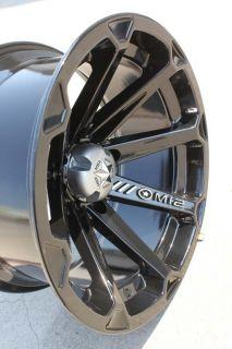 MSA Diesel Black ATV Deep Dish Wheels/Rims 14 Sportsman RZR Ranger (4