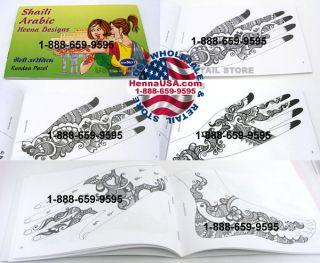 Arabic Temporary Henna Tattoo Design Book for Hand Feet
