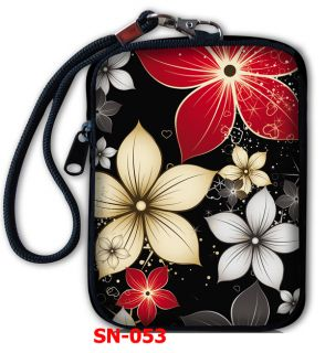 Noble Flower Digital Camera iPod Touch iPhone Bag Case Pouch Cover