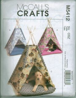McCalls Craft Pet Dog Cat Bed Clothes Sewing Pattern