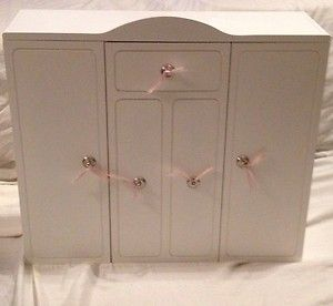Our Generation Wardrobe Closet Trunk Chest Fits 18 dolls Like American