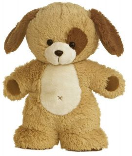 11 Aurora Plush Brown Puppy Dog Stuffed Animal Toy New