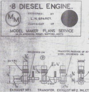 8cc Diesel Engine Model Maker SHIP Boat Plan Design