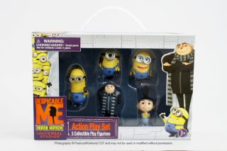 Despicable Me Action Play Set Toy Figures Gru Agnes PVC Minion Mayhem