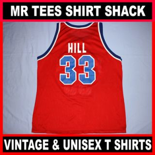 Detroit Pistons Grant Hill #33 Red Champion NBA Basketball Jersey Size