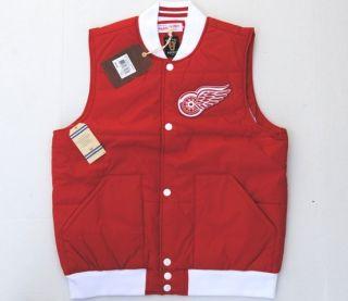 Detroit Red Wings NHL Free Agent Nylon Vest Jacket Mitchell Ness Brand