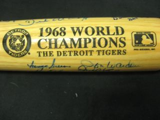 Rik 1968 Detroit Tigers World Champions Autograph Bat 27 Signatures