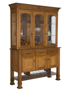 Amish Hutch Dining Room Buffet Server China Cabinet Hutches Solid Wood