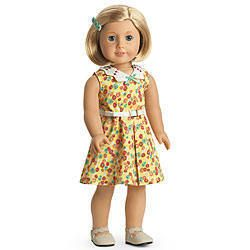 American Girl Doll Kit Kits Floral Print Dress Outfit