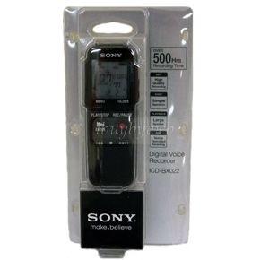 Sony ICD BX022 Black 2 GB Digital Voice Recorder New
