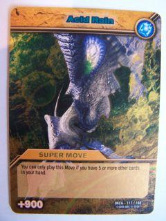 Dinosaur King Trading Card Gold Shiny Super Move Acid Rain DKCG 117