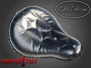 LaRosa Harley Chopper Bobber Solo Seat Diamond Button