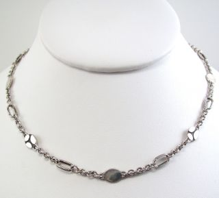 New John Hardy Sterling Silver Kali Menari Sautoir Necklace Link Chain