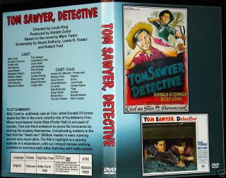 Tom Sawyer Detective DVD Billy Cook Donald OConnor