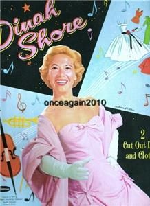 original not a reproduction 1958 dinah shore paper dolls