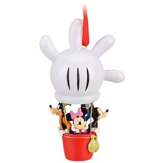 Disney Mickey Minnie Mouse Donald Goofy Hot Air Balloon Christmas