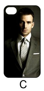 CHRIS EVANS iphone 4 4S 5 HARD BACK COVER CASE American Captain