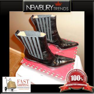 Donald J Pliner Western Couture Collection Womens Ankle Black Cowboy