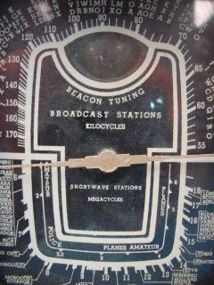 RARE Herbert H Horn Mfg Model 83 Eye Tube Radio Art Deco Vtg RARE Wood