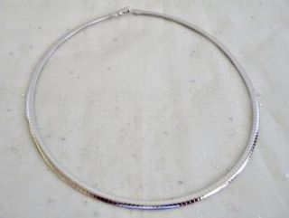 Lia Sophia Elizabeth x4 Omega Necklace Rhodium Plated Silvertone 17