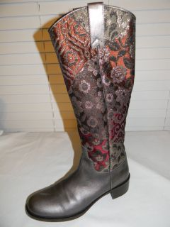 Donald J Pliner Western Couture Collection tall boots Italy 8 M