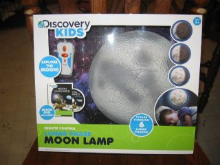 discovery kids new in box remote control lunar phase moon lamp