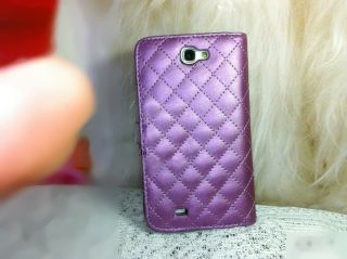 Crystal cute Diamond Leather Case Cover for samsung galaxy note 2