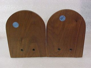 Unlimited CANVASBACK DUCK DECOY Bookends w Bronze Medallions B Kennedy