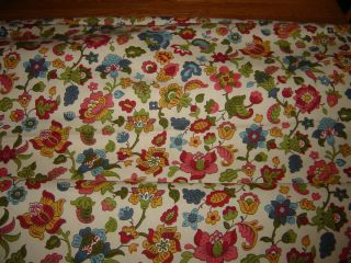 VTG WAVERLY Discontinued Fabric Old Milford 3 67 yds French Country