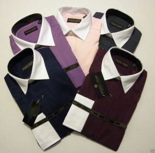 Donald Trump Mens Two Tone French Cuff No Iron Dress Shirt $69 50