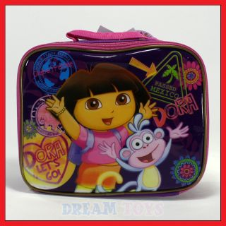 Nick Jr Dora The Explorer and Boots Globetrotter Lunch Bag Box Case