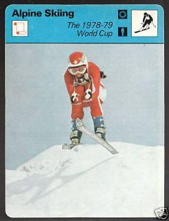 Doris de Agostini 1979 Alpine Skiing SPORTSCASTER Card