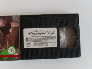 Life VHS Movie Video Tape James Stewart Donna Reed Uncut