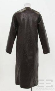Donna Karan New York Black Leather 3 4 Length Jacket Size XS