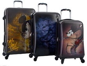 Heys Disney Mickey Spinner Hardside 3pc Luggage Set New
