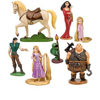 Disney Tangled Rapunzel Figurine Set with Pascal   Birthday Cake