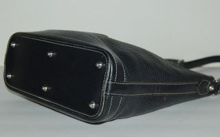 Dooney Bourke All Weather Leather Black Shoulder Bag Handbag Purse