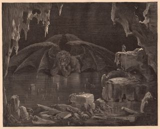 Gustave Dore Lucifer Satan Watching Hell Dantes Inferno 13x19 Print