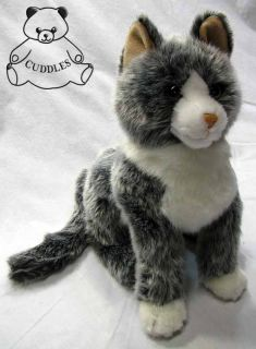 Cloudy Grey Cat Douglas Cuddle Plush Toy Stuffed Animal Realistic